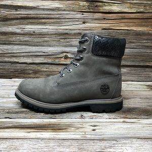"Timberland Women's 6"" Premium Boot Dark Grey"